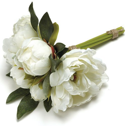 White Bouquets Peonies